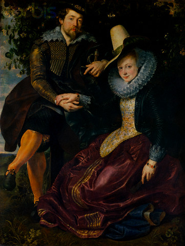 Self-Portrait with Wife, Isabella Brandt by Peter Paul Rubens, ca.1609