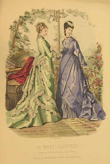 Illustration from La Mode Illustrée, 1875.