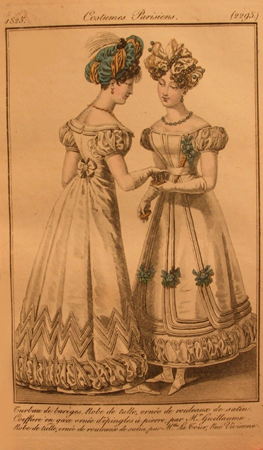 Illustration from Costume Parisien reprinted in Journal des Dames et Modes, 1825.