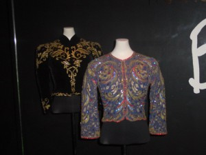 Dietrich jackets Left: Travis Banton. Evening jacket worn by Marlene Dietrich. c. 1950. FIDM Museum Collection. Copyright FIDM Museum. Right: Travis Banton/Howard Greer. Evening jacket worn by Marlene DIetrich. c. 1935-1940. FIDM Museum Collection. Copyright FIDM Museum