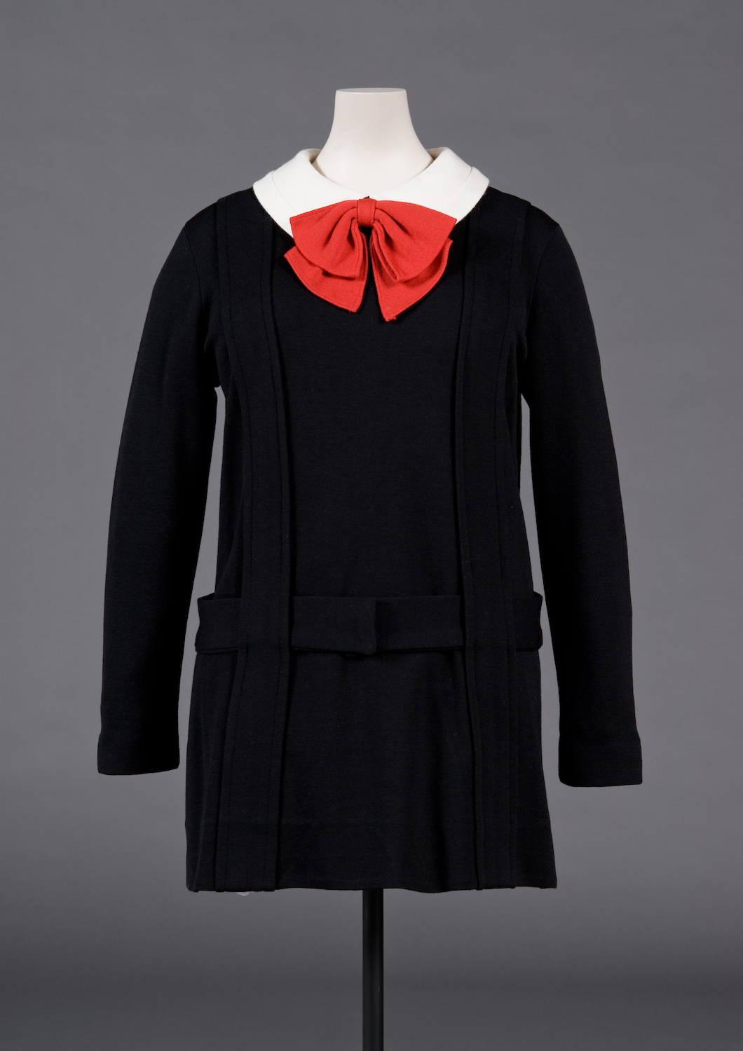 "Rudi Gernreich. ""Japanese Schoolgirl"" dress. Fall 1967. Purchase. FIDM Museum Collection. Photo by Brian Sanderson. Copyright FIDM Museum."