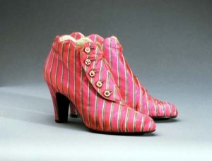 Boots for Schiaparelli in Shocking Pink by Andre Perugia (Philadelphia Museum of Art)