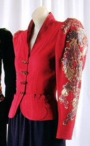 Dinner Jacket with insect buttons, 1938 (MET, CI)