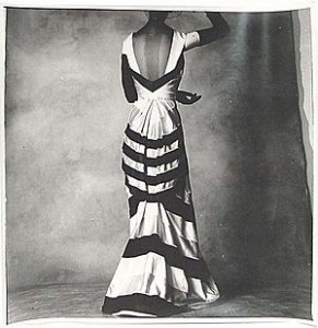 Irving Penn photograph of a Schiaparelli bustled gown
