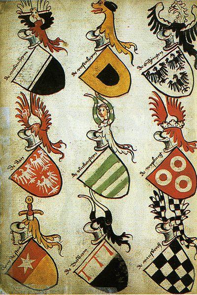 German Hyghalmen Roll W Coat Of Arms C