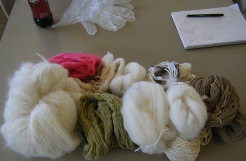 Yarn and Fiber Ready for the Dyepot