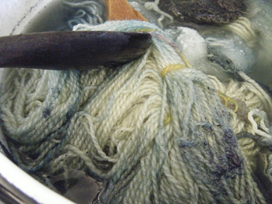Yarn in the Indigo Vat
