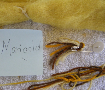 Yarn and Fiber Dyed with Marigold