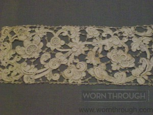 Boarder, c.1650-75. Linen; needlepoint lace, Made in Italy (Venice)