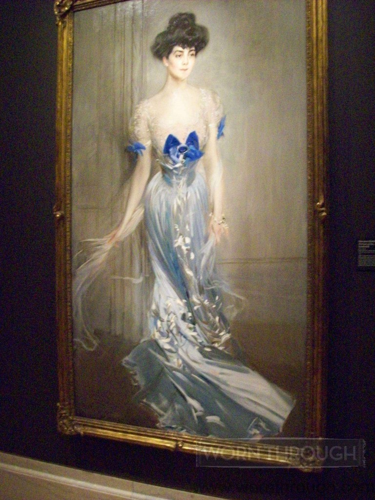 Virginia Graham Fair Valderbilt, 1905 portrait by Giovanni boldini, gift of Mrs. Vanderbilt Adams, FAMSF. Photograph by Heather Vaughan