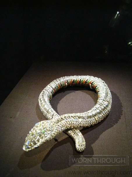 Snake Necklace, Cartier Paris, 1968 (Diamonds, platinum, white gold, yellow gold, emeralds, and enamel. Sold to Maria Felix