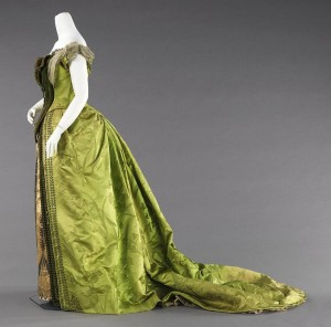 Worth Evening Gown, 1887, Brooklyn Museum Costume Collection at the Metropolitan Museum of Art