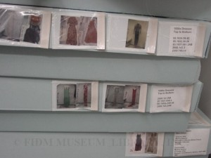 Boxed garment storage, FIDM Museum