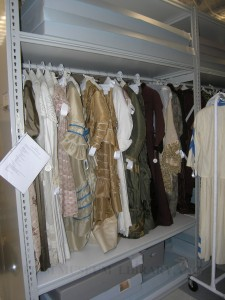 Nineteenth century garments in Compact Storage, FIDM Museum, 2010
