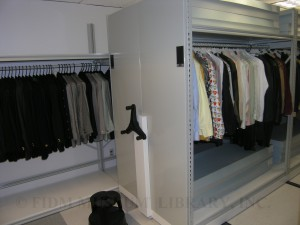 Versace Menswear Archive being moved into Compact Storage, 2009, FIDM Museum