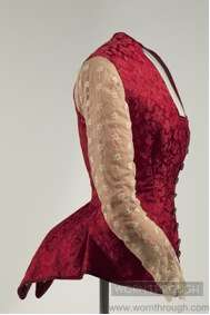 Crimson silk outfit, Historic Houses Trust of NSW