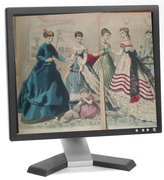 fashion plate computer monitor