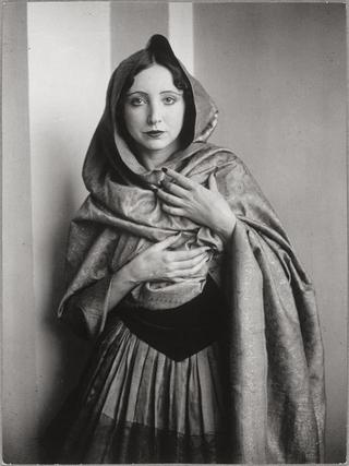 Anais Nin in cape