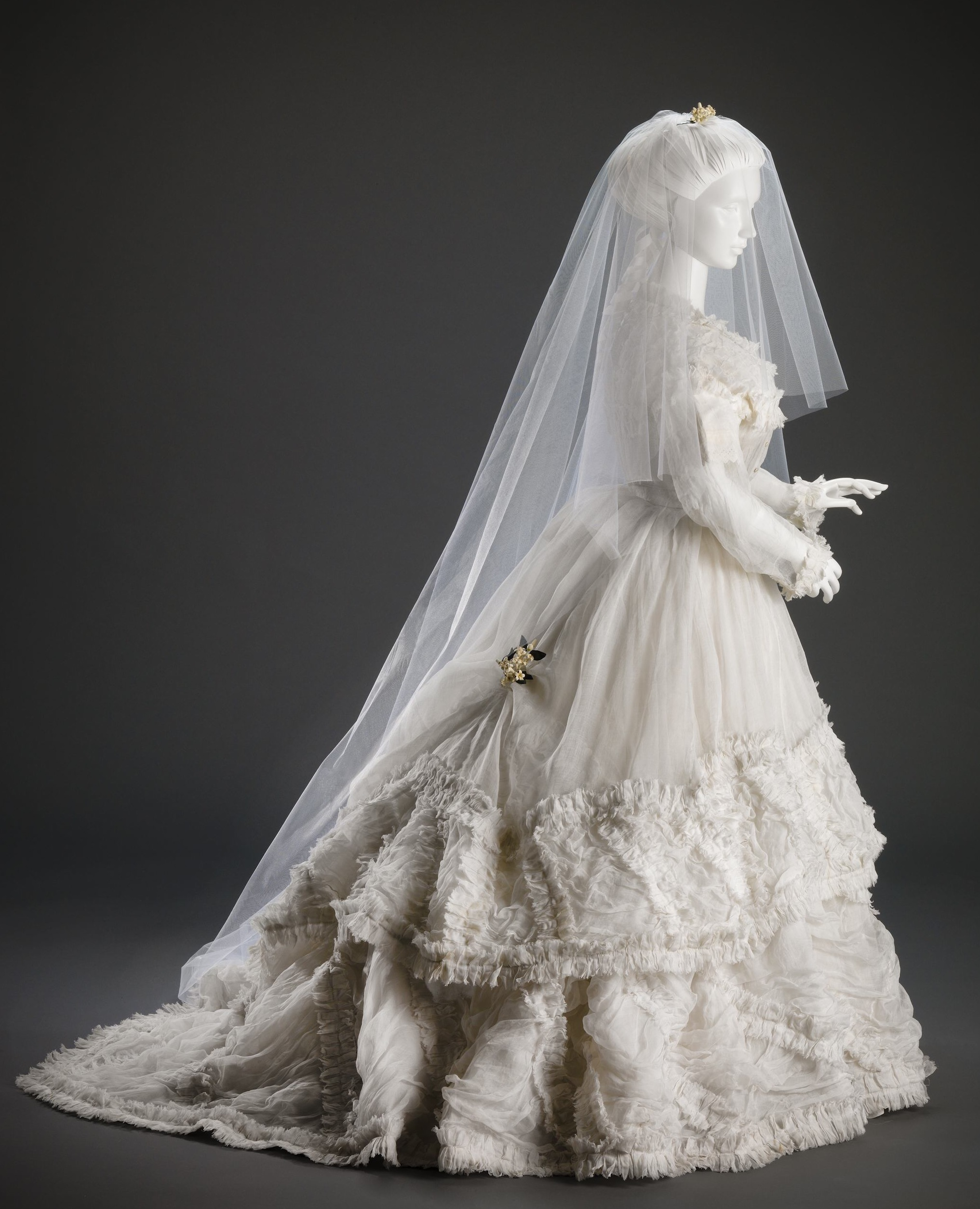 Wedded perfection two centuries of wedding gowns part i for 19th century wedding dresses