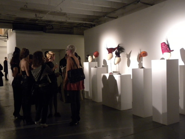 General atmosphere at the MA show private view showing work by MA Fashion Artefact graduate Vesna Pesic