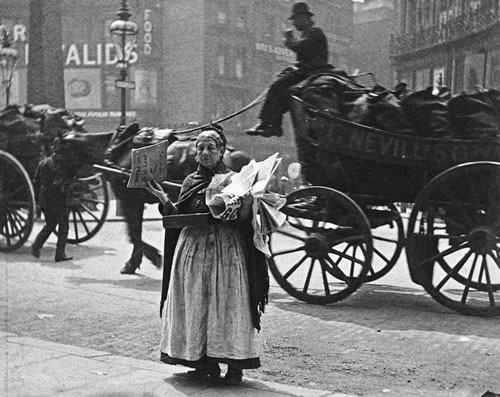 Paul Martin, A Magazine Seller at Ludgate Circus, 1893