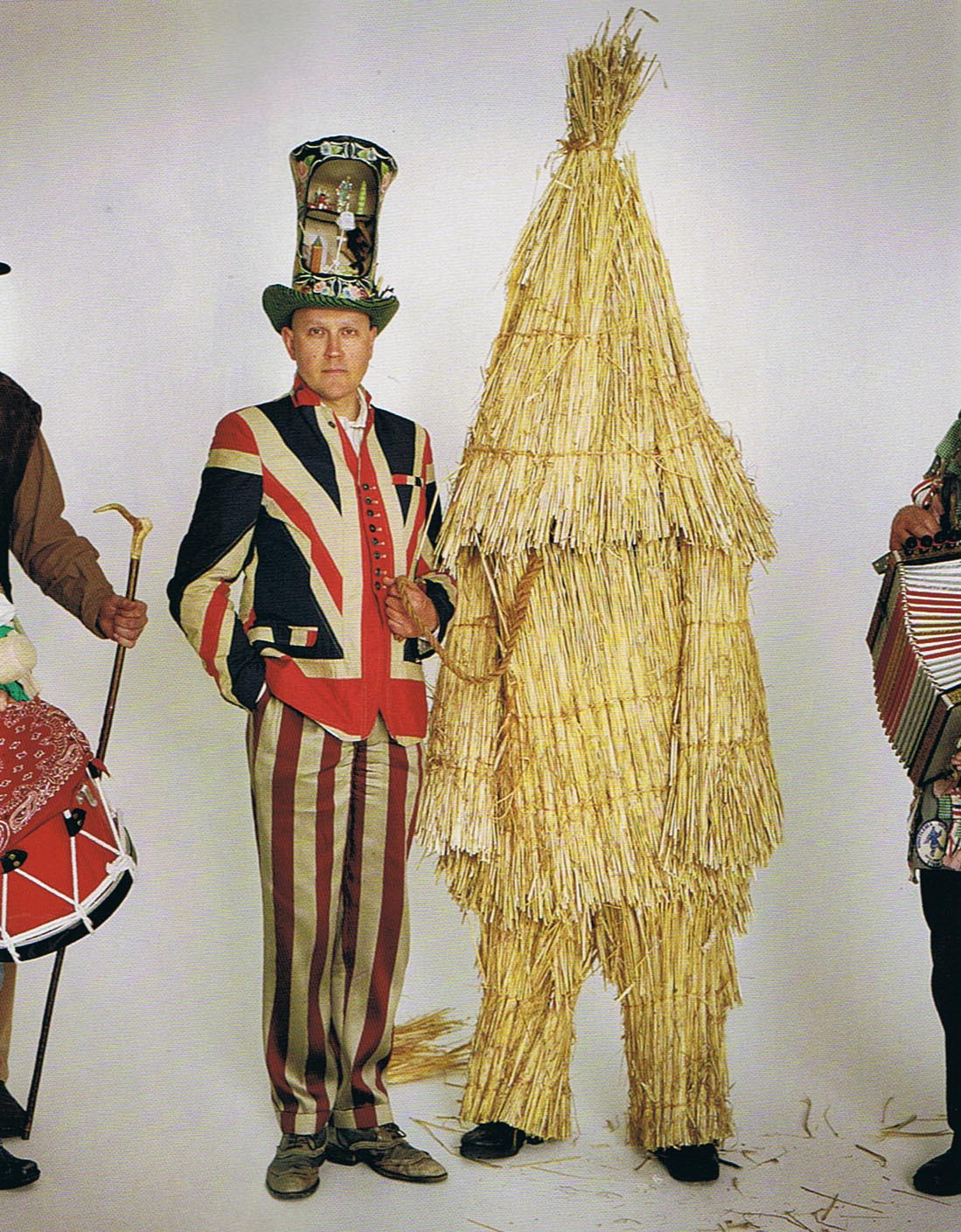 Simon Costin, curator with the Whittlesea Straw Bear, photo by Tim Walker