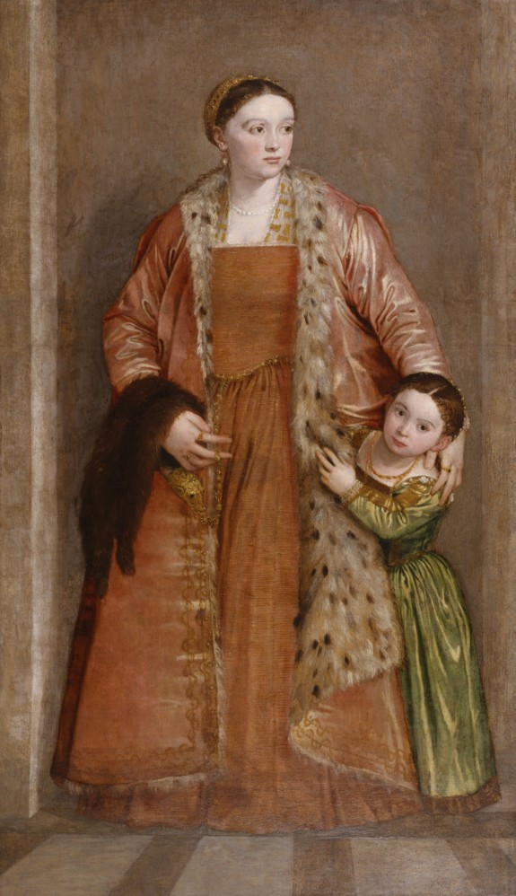 """Portrait of Countess Livia da Porto Thiene and her Daughter Portia"", c. 1551, Paolo Veronese. The Walters Art Museum, Baltimore."