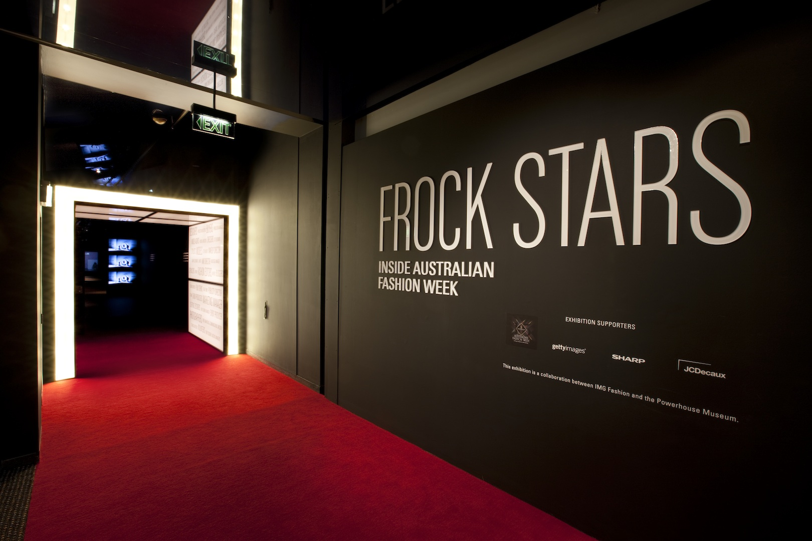 Entrance, Frock stars-  Inside Australian Fashion Week Photo: Geoff Friend, Powerhouse Museum