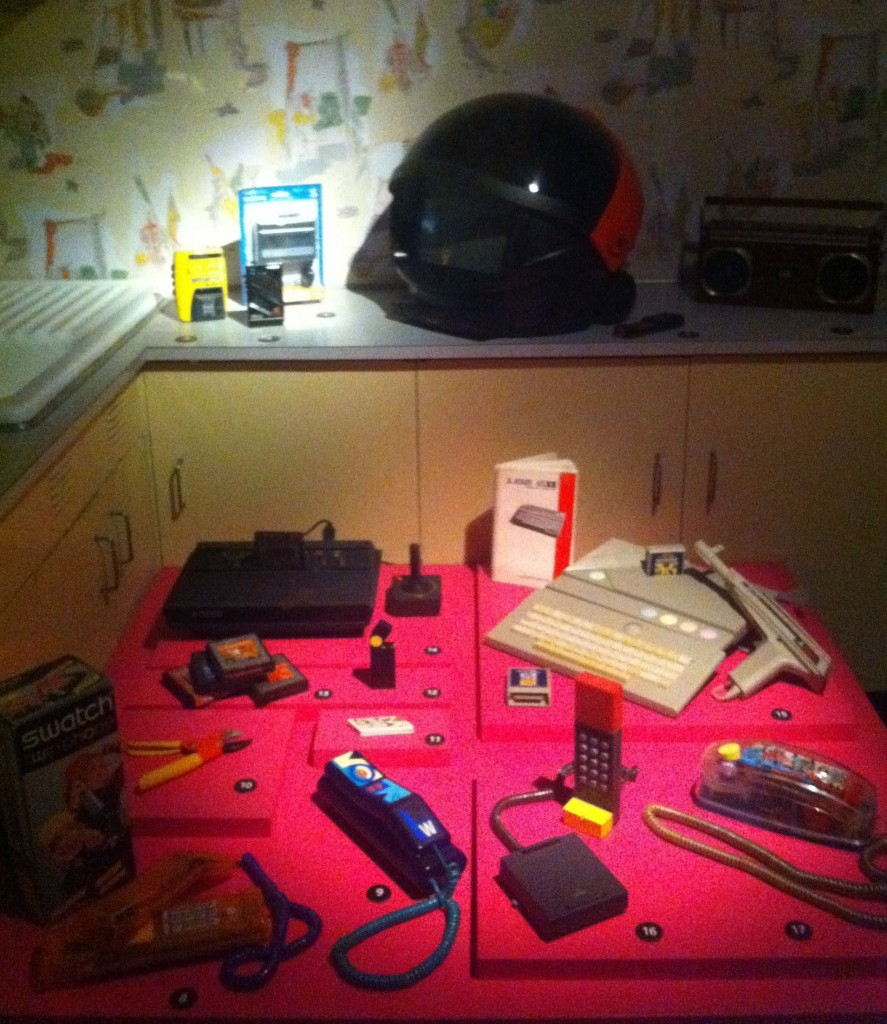 1980s personal electronics and appliances installed in the kitchen of the Yarur-Bascuñan residence
