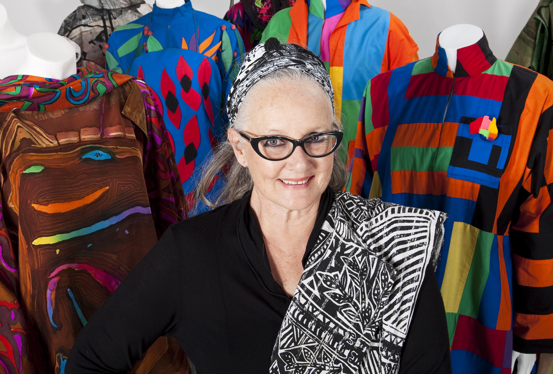 Linda Jackson surrounded by her creations 2011 Photo: Narelle Wilson (c) Linda Jackson
