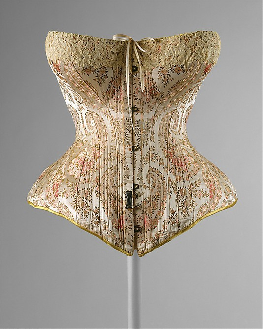 1891 Corset, Metropolitan Museum of Art.  Via History of Underwear by Erin Dahl.