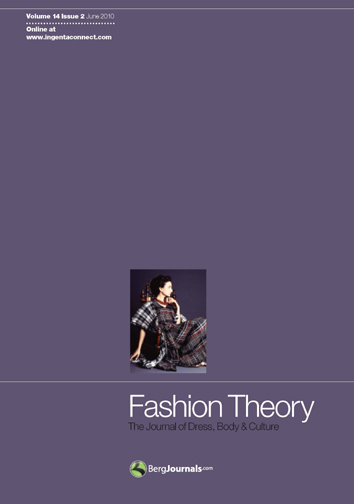 Cover Fashion Theory volume 14 issue 2
