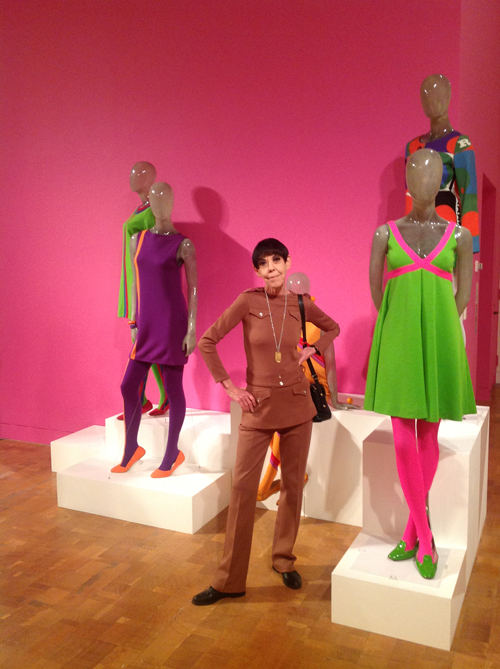 Peggy Moffitt at MOCA, LA.  Photograph courtesy of Keremi Gawade