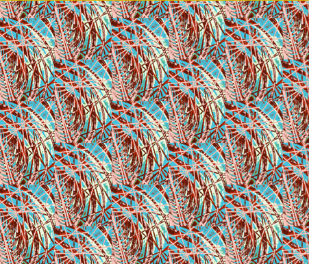 Textile design by Parisa Zahedi.  Repeat pattern was made possible by Spoonflower.com