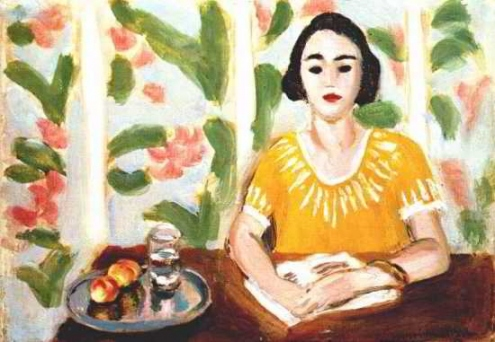 Woman Reading with Peaches 1923 Matisse, Henri