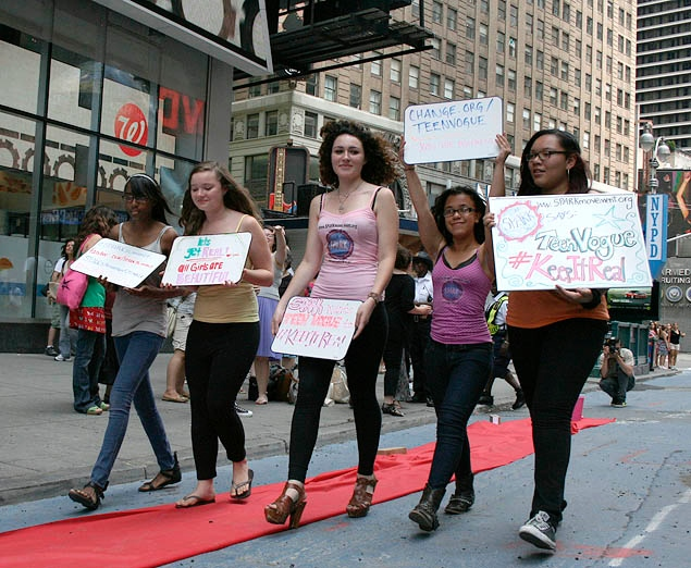 Teen Vogue runway protest