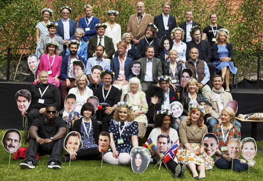 """Guest presenters for this year's season of """"Sommar i P1"""", gathered for the press conference. Photo: uncredited, SverigesRadio."""