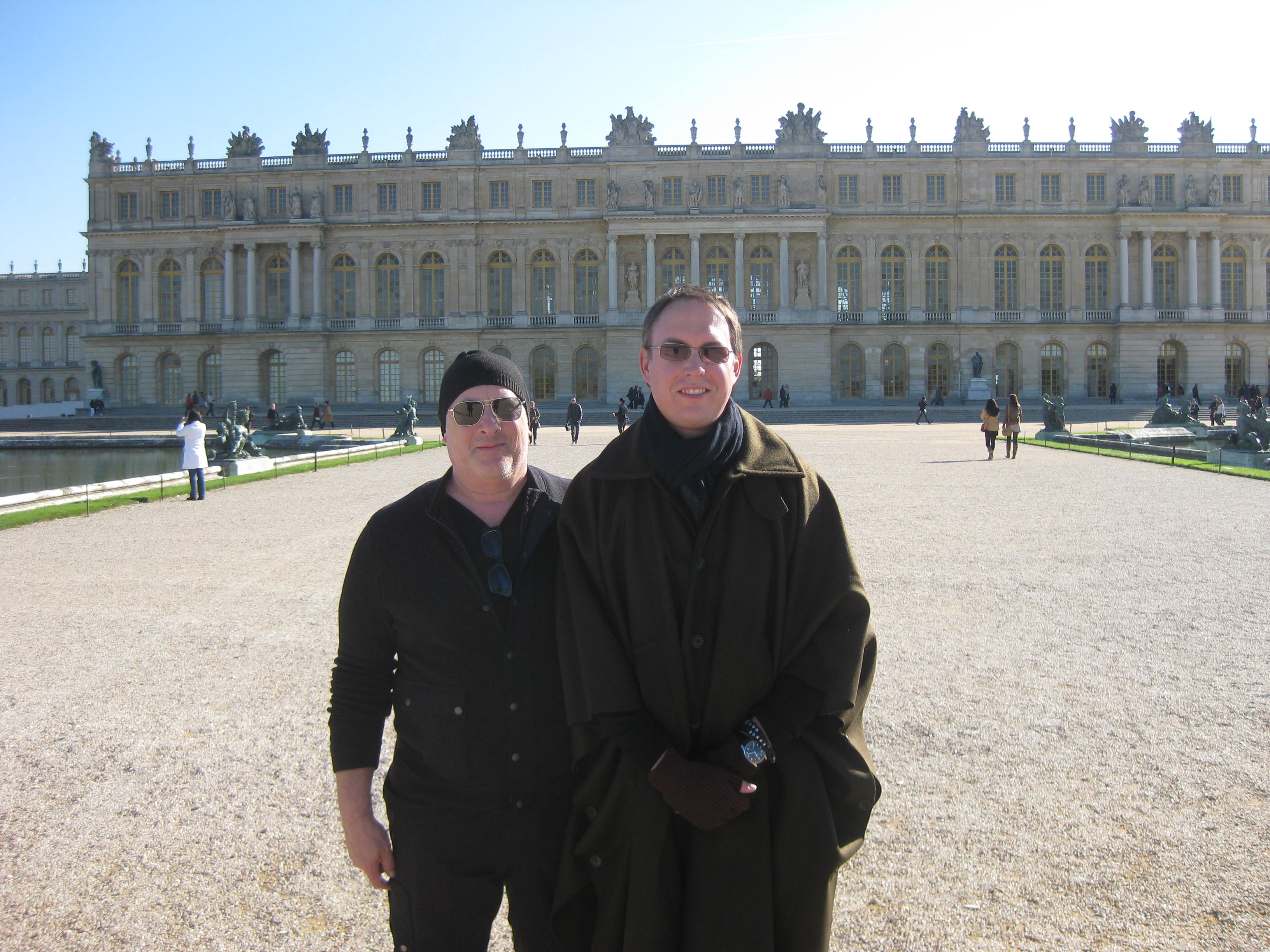 My partner Morrie Breyer and I at the Palace of Versailles, France.