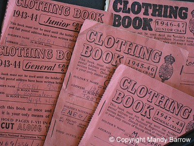 World War 2 Clothing Ration Books, photo copyright Mandy Barrow