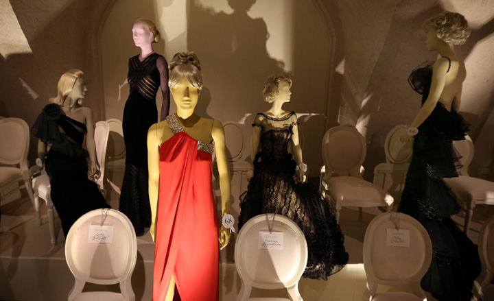 Installation view of Valentino Master of Couture at Somerset House
