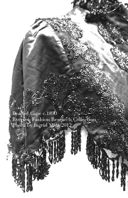 Beaded Cape c.1860  Ryerson Fashion Research Collection, Photo by Ingrid Mida 2012