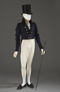 English coat, 1825-1830 and Scottish trousers, 1825-1830 Photo Les Arts Décoratifs