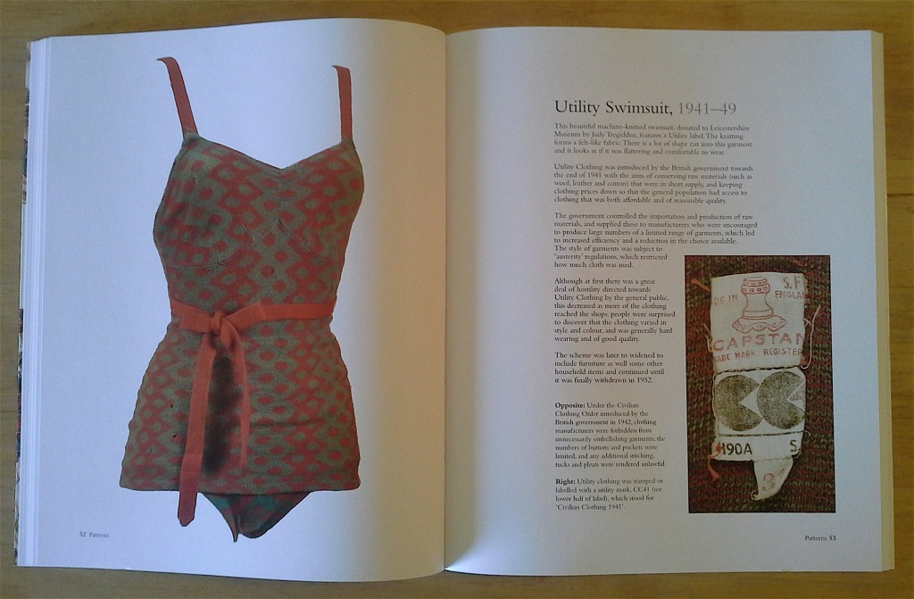 """Utility Swimsuit, 1941-49."" Description and photographs, page 53, ""Vintage Swimwear."""