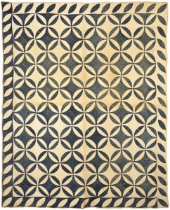 Lafayette Orange Peel Quilt, 1830-1875 Inspired by a popular myth concerning the Marquis de Lafayette. Copyright: American Museum in Britain