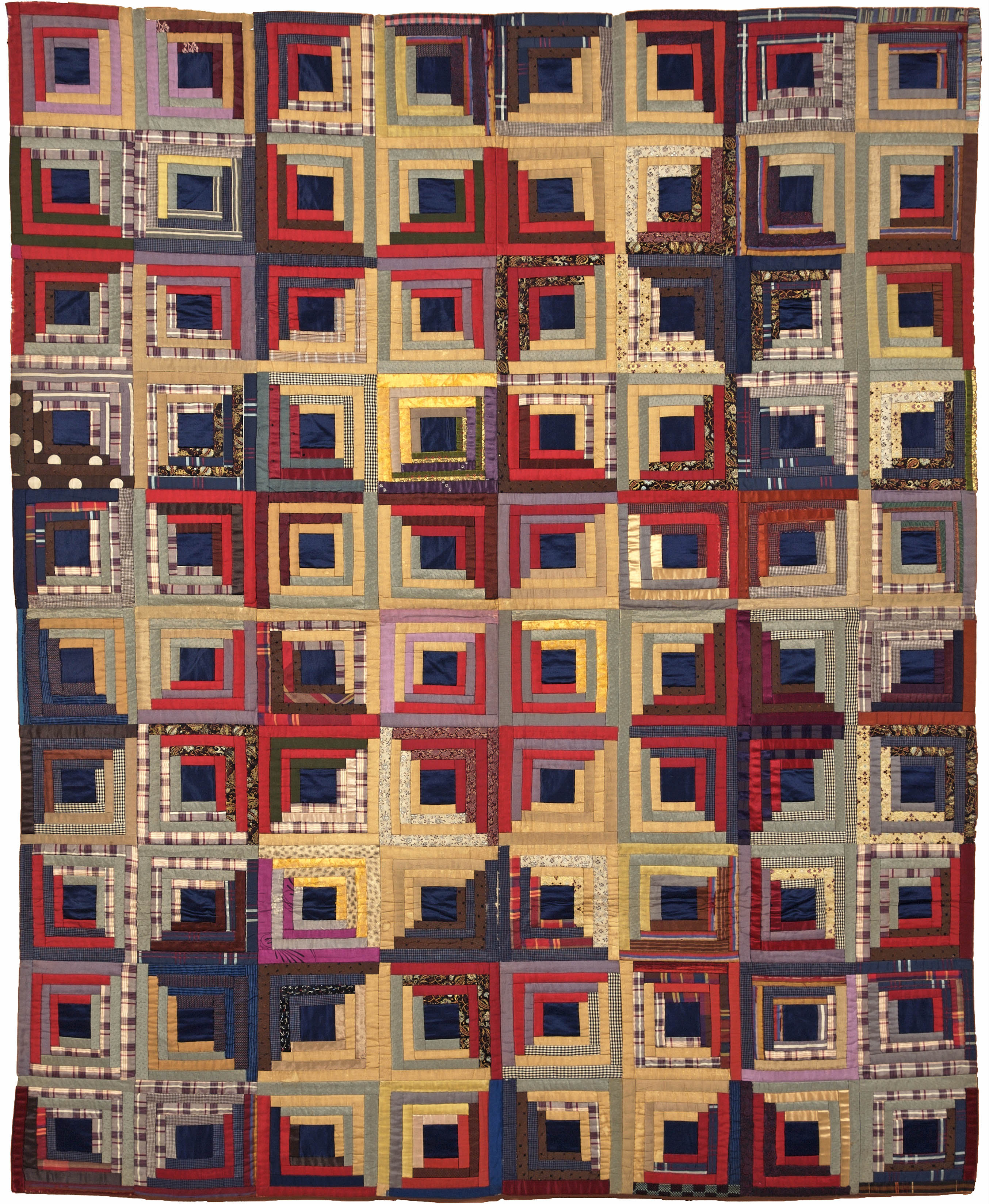 Log Cabin Quilt, 1875 1900 One Of The Most Popular American Quilting  Pattern.