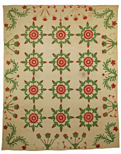Rose of Saron Quilt, 1850 Traditionally made for newlyweds.  Copyright: American Museum in Britain