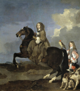 Christina on Horseback Sébastien Bourdon 1653 Collection of the Prado Museum, Madrid.
