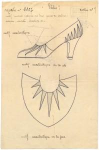 """Registered Model - Pérugia, Chaussure """"Phébus"""" - 16/03/1931 Copyright: Archives de Paris/DU12U107"""