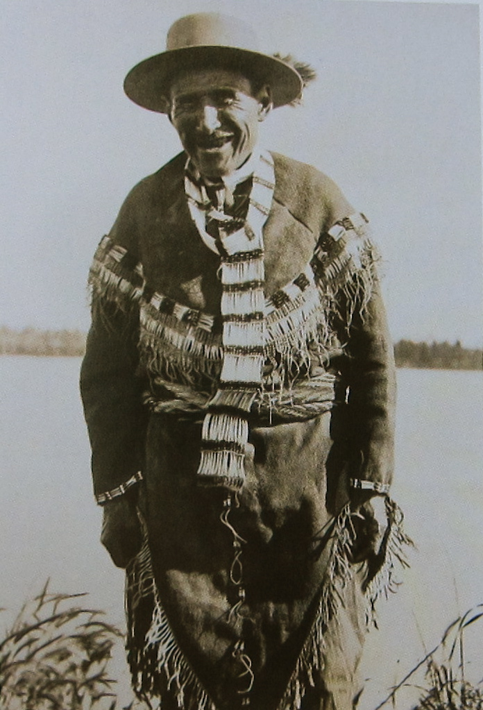 """Chief Alexander at Tolovana in 'old time costume', early twentieth century."" In the Archives of the University of Alaska Fairbanks. From ""Women's Work, Women's Art"" by Judy Thompson (2013)."