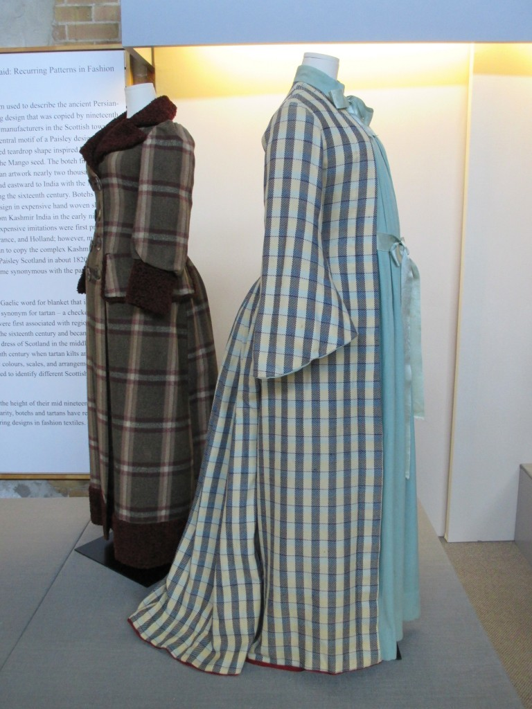 Paisley and Plaid Maternity ensemble Fashion History Museum Photo by Ingrid Mida 2013
